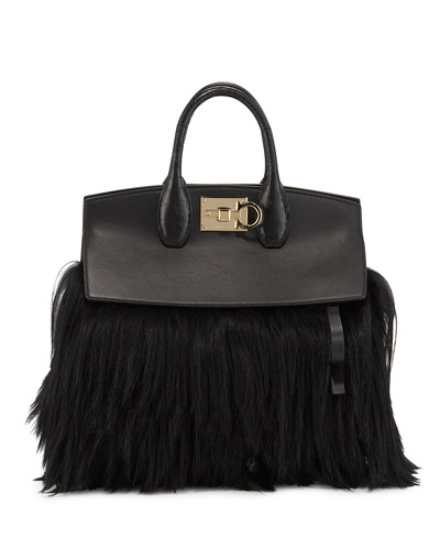 Studio Picolo Fur Satchel Bag