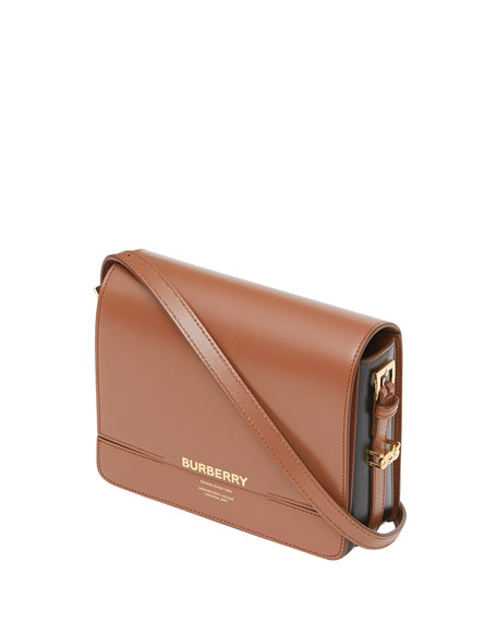 Burberry Horseferry Leather Shoulder Bag