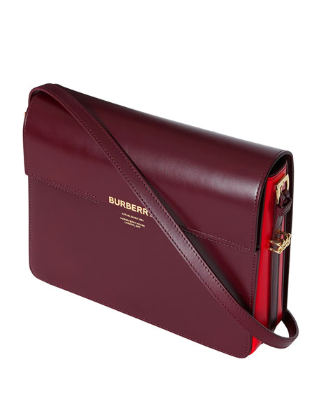 Burberry Horseferry Leather Shoulder Bag