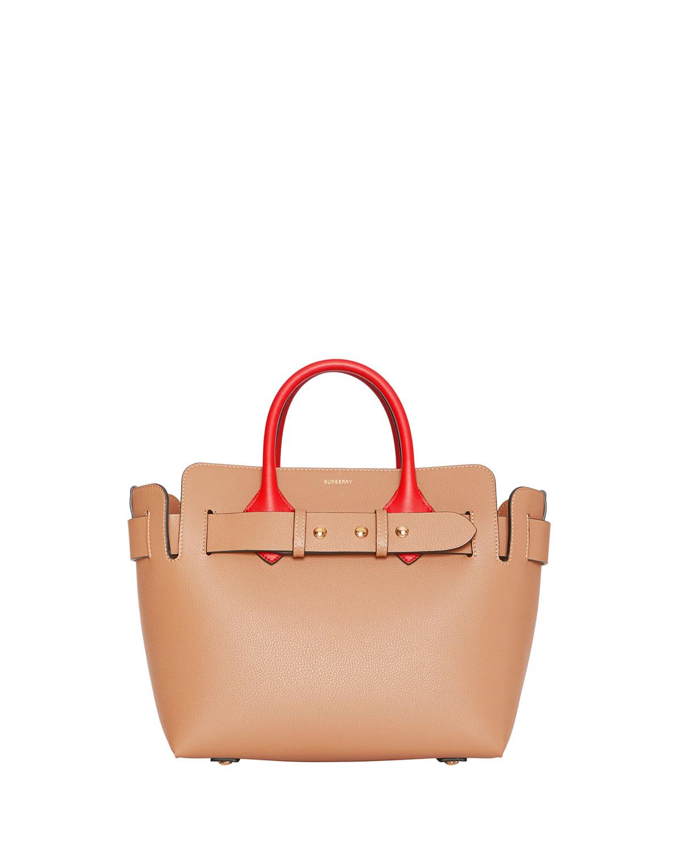 Burberry Marais Small Colorblock Belted Satchel Bag  0698813a35577