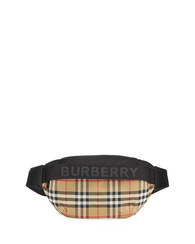 Sonny Vintage Check Nylon Belt Bag