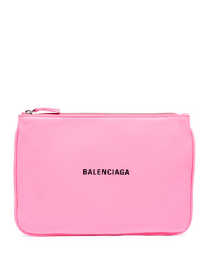 Balenciaga Ville Large Leather Pouch Wallet b5d81c50ca8e6