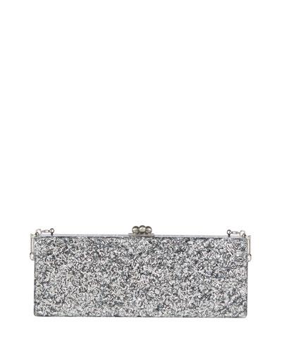 Flavia Glitter Frame Clutch Bag