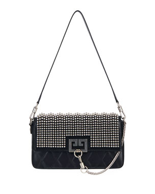 5ca221e111 Givenchy Charm Small Studded Leather Shoulder Bag