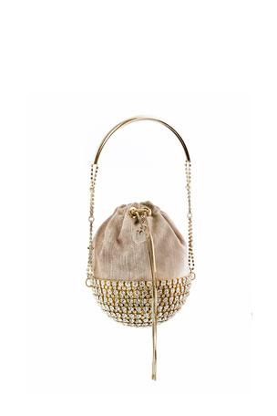 Rosantica Kingham Half Moon Velvet Minaudiere Bag