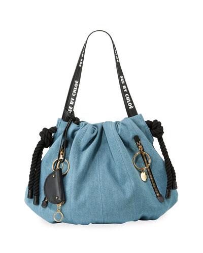 Flo Denim Shoulder Bag