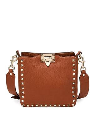 902066b8fab Valentino Garavani Rockstud Small Vitello Leather Hobo Bag