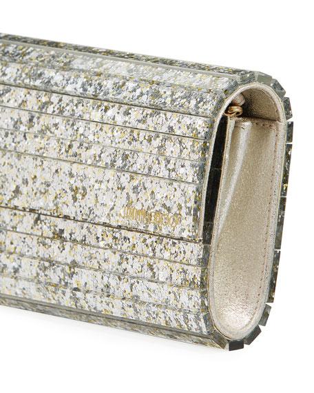 Jimmy Choo Sweetie Glittered Acrylic Clutch Bag