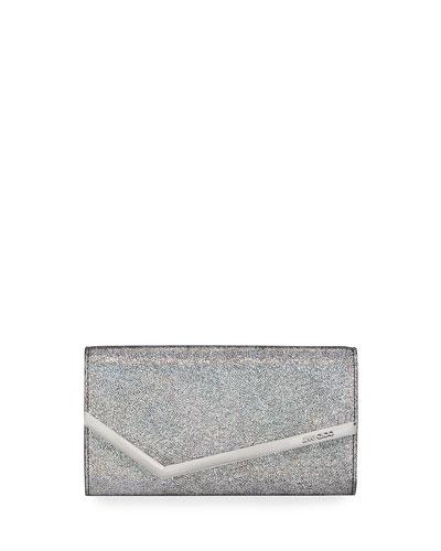 Emmie Hologram Leather Clutch Bag