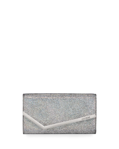 Jimmy Choo Emmie Hologram Leather Clutch Bag
