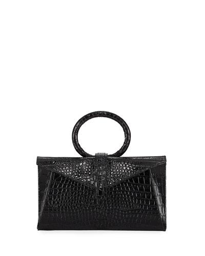 Vallery Mini Stamped Top-Handle Bag
