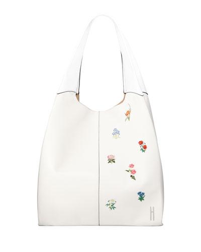 Grand Shopper Embroidered Tote Bag