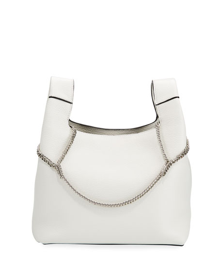 Hayward Bags NEW CHAIN LEATHER TOP-HANDLE BAG