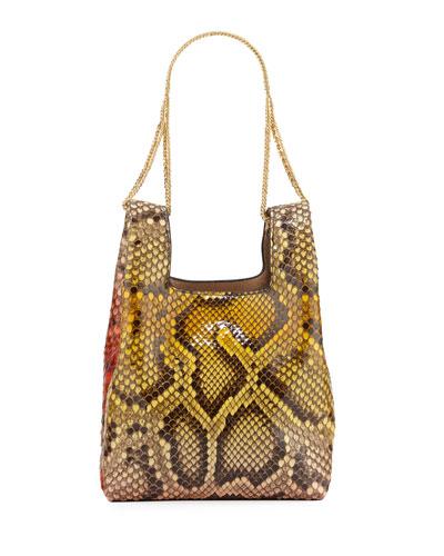 Mini Chain Painted Python Clutch Bag