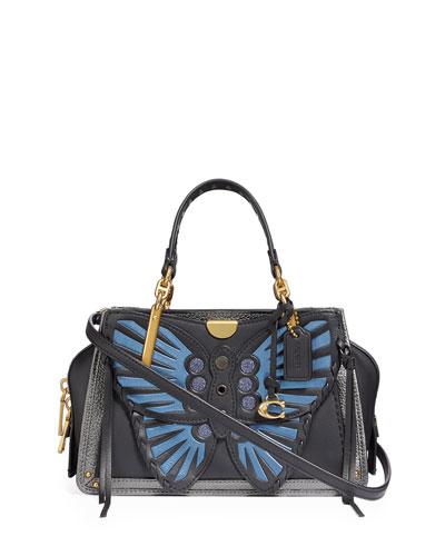 Dreamer 21 Whipstitch Butterfly Satchel Bag