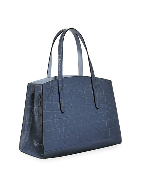 Coach 1941 Charlie Croc-Embossed Leather Carryall Tote Bag