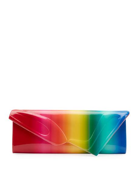 Christian Louboutin So Kate Rainbow Baguette Clutch Bag
