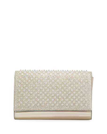 Christian Louboutin Paloma Glitter Mini Clutch Bag