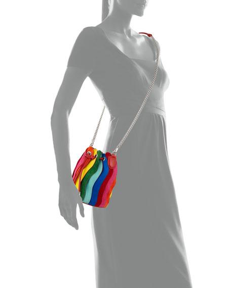 Christian Louboutin Marie Jane Rainbow Suede Bucket Bag