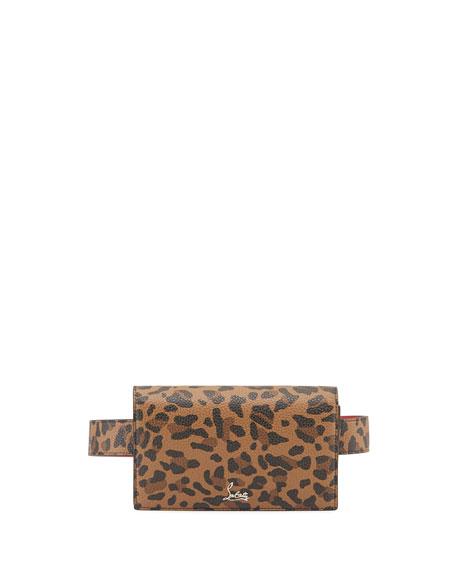Christian Louboutin Boudoir Chain Leopard-Print Belt Bag