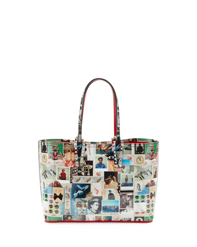 Cabata Small Patent Collage Tote Bag