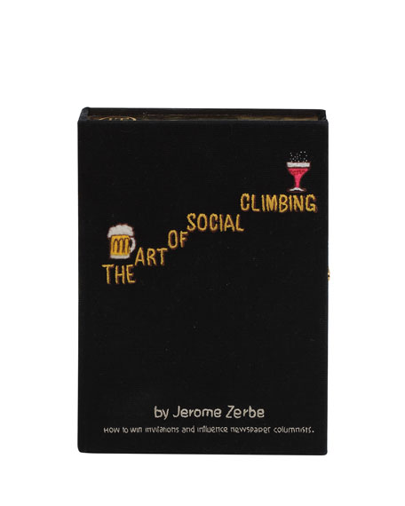 Olympia Le-Tan Clutch THE ART OF SOCIAL CLIMBING BOX CLUTCH BAG