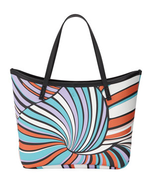 22c817962444 Emilio Pucci Printed Saffiano Large Tote Bag
