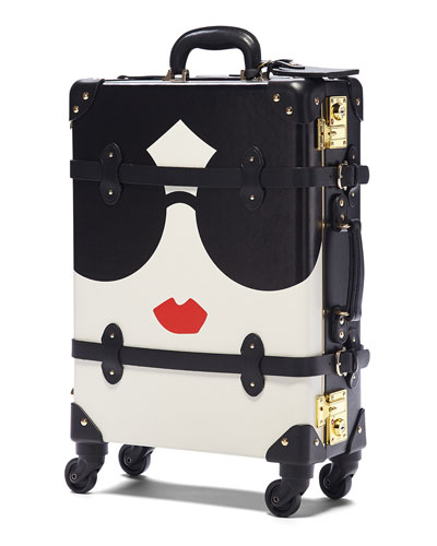 x SteamLine StaceFace Carryon Rolling Luggage