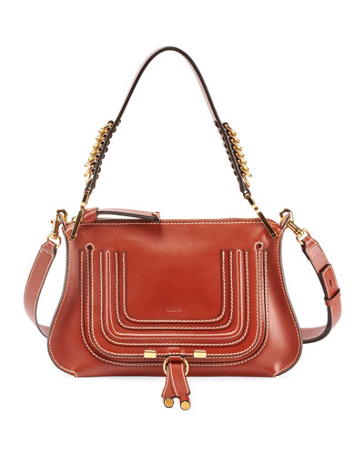 Marcie Saddle Shiny Shoulder Bag