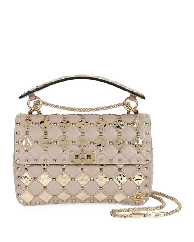 Spike.It Medium Quilted Shoulder Bag with Geometric Detail
