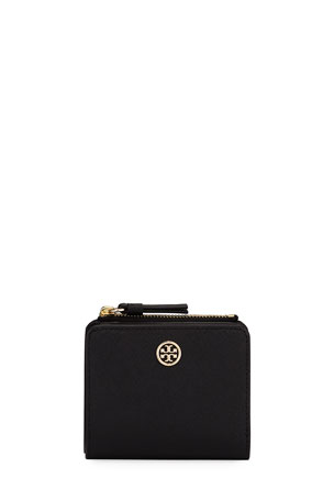 Tory Burch Robinson Mini Saffiano Leather Wallet