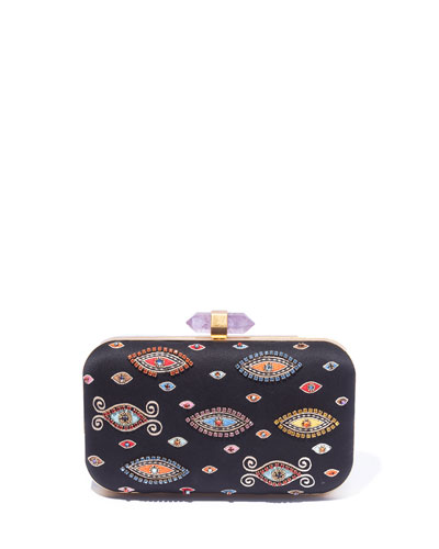 Shirley Large Evil Eye Box Clutch Bag