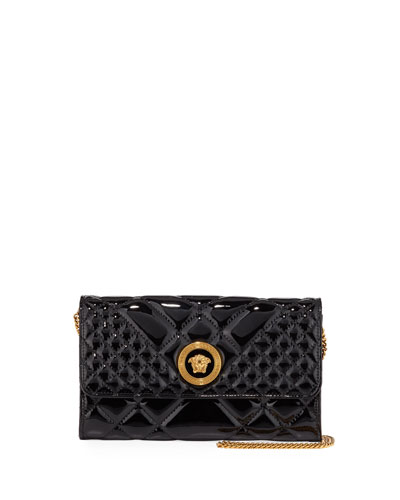 Icon Quilted Patent Crossbody Bag