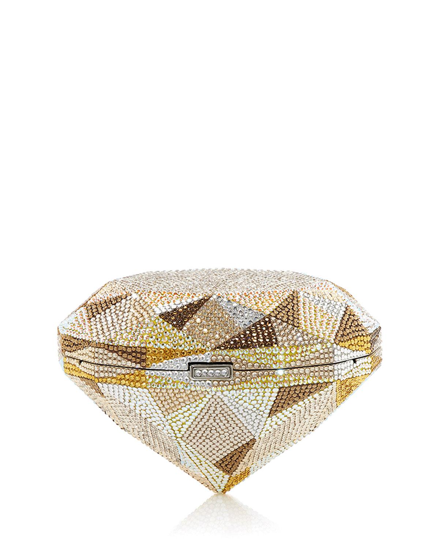 Diamond Canary Crystal Clutch Bag