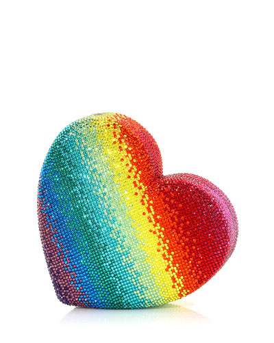 Heart Rainbow Clutch Bag