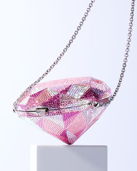 Judith Leiber Couture Pink Diamond Clutch Bag