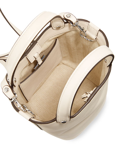 Tory Burch Miller Mini Bucket Bag, White