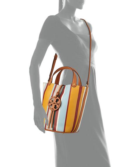 Tory Burch Miller Striped Bucket Bag