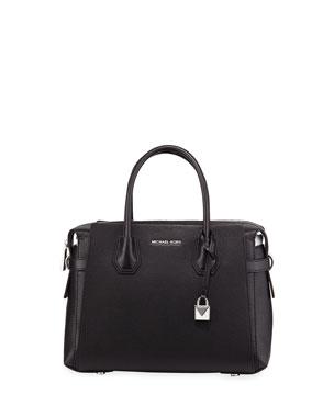 MICHAEL Michael Kors Mercer Belted Leather Satchel Bag