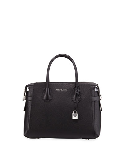 Mercer Belted Leather Satchel Bag