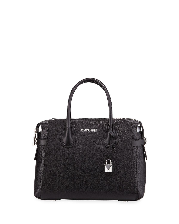 michael michael kors mercer belted leather satchel bag neiman marcus. Black Bedroom Furniture Sets. Home Design Ideas