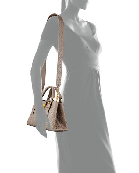 Bottega Veneta Roma Mini Intrecciato Tote Bag