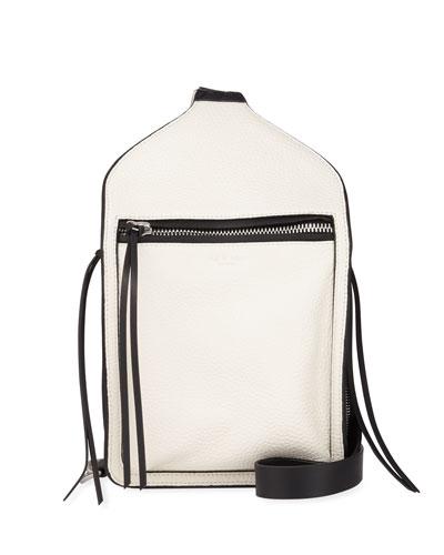 Elliot Large Leather Belt Bag  White