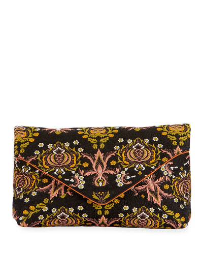 Jacquard Envelope Clutch Bag