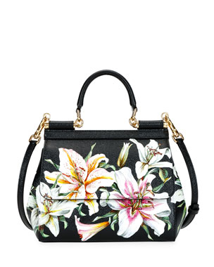 02e0f2cbf7 Dolce   Gabbana Sicily Medium Lilium Tote Bag