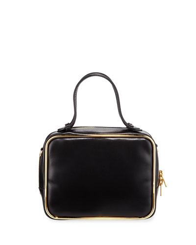 Halo Leather Top-Handle Satchel Bag