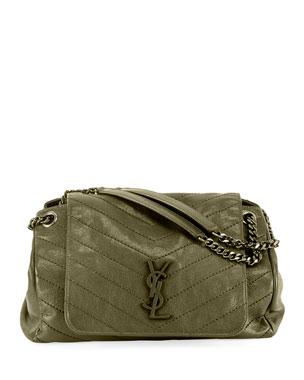 6a1266360c76e Saint Laurent Nolita Medium Monogram YSL Double-Chain Shoulder Bag