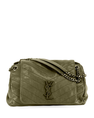 Nolita Medium Monogram YSL Double-Chain Shoulder Bag