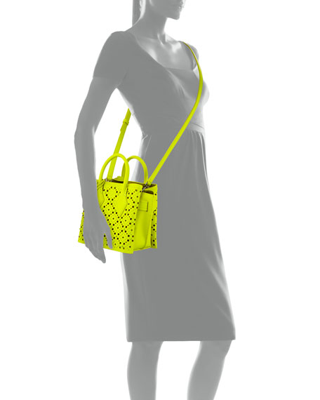 MCM Neo Milla Small Studded Leather Tote Bag
