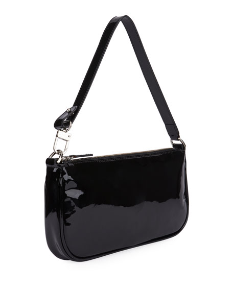 Image 2 of 2: BY FAR Rachel Small Patent Shoulder Bag
